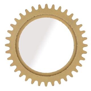 A.R.T. Furniture Epicenters Williamsburg Factory Yellow MDF Round Mirror