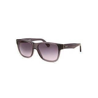 Tod's Men's Square Translucent Grey Plastic Sunglasses With Gradient Lenses