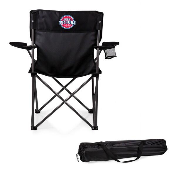 Picnic Time Detroit Pistons Black Polyester/Metal PTZ Camp Chair