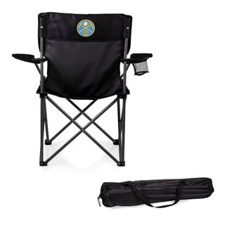 Picnic Time Denver Nuggets PTZ Black Metal/Polyester Camp Chair