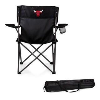 Picnic Time Chicago Bulls Black Polyester/Metal PTZ Camp Chair