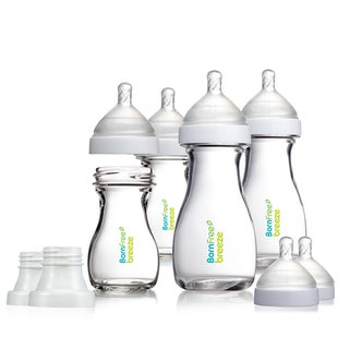 Born Free Breeze Infant's Clear Glass Bottles (Set of 4)