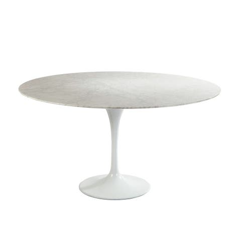 Hans Andersen Home White Marble Tulip Dining Table