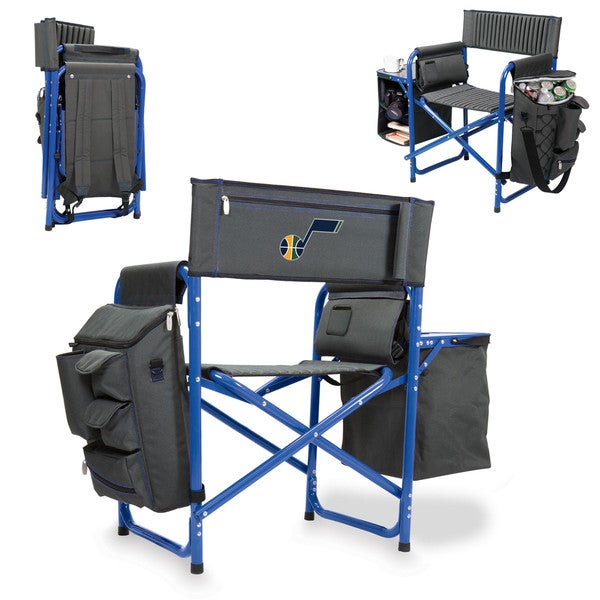 Picnic Time Utah Jazz Fusion Grey/Blue Polyester/Aluminum/Rubber Chair