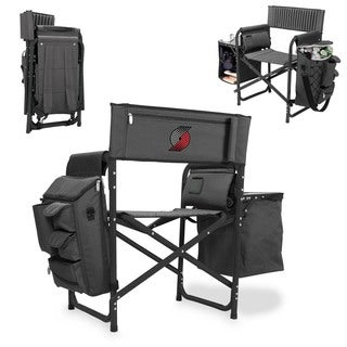 Picnic Time Portland Trailblazers Fusion Grey/Black Polyester/Aluminum/Rubber Chair