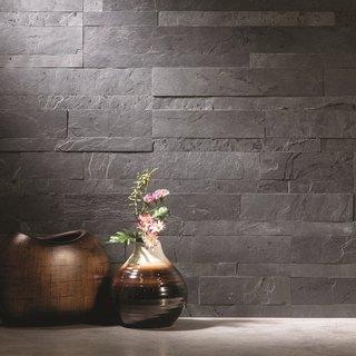 Aspect 6 x 24-inch Charcoal Slate Peel and Stick Stone Backsplash