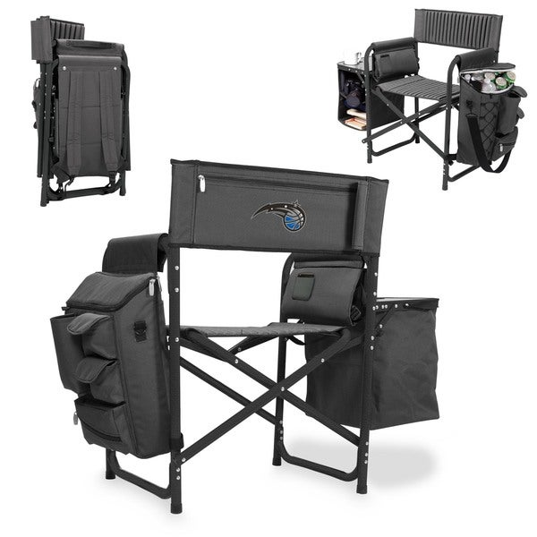 Picnic Time Orlando Magic Fusion Grey/Black Polyester/Aluminum/Rubber Fusion Chair