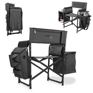 Picnic Time Orlando Magic Fusion Grey/Black Polyester/Aluminum/Rubber Fusion Chair