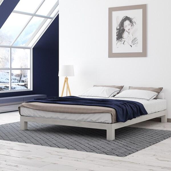 White Platform Bed Frames motif design aura white platform bed - free shipping today