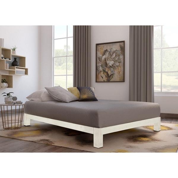 Lovely Motif Design Aura White Platform Bed