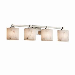 Justice Design Group LumenAria Regency 4-Light Nickel Bath Bar