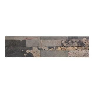 Aspect 6 x 24-inch Medley Slate Peel and Stick Stone Backsplash (2 options available)
