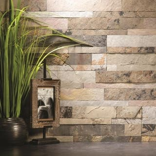 Aspect 6 x 24-inch Medley Slate Peel and Stick Stone Backsplash|https://ak1.ostkcdn.com/images/products/11910786/P18802970.jpg?impolicy=medium