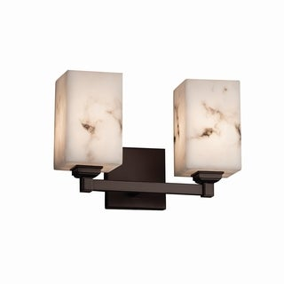 Justice Design Group LumenAria Regency 2-Light Bronze Bath Bar