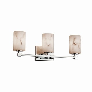 Justice Design Group LumenAria Tetra 3-Light Chrome Bath Bar