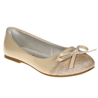 Jelly Beans Girls' Faux Leather Slip-on Ballet Flats
