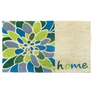 Home Blue/Green Coir/Vinyl Printed Doormat