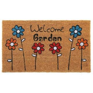 Aspire Welcome Garden Coir Floral Printed Doormat