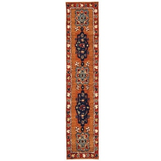 Herat Oriental Afghan Hand-knotted Gabbeh Wool Runner (3'1 x 15'7)