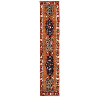 Herat Oriental Afghan Hand-knotted Gabbeh Light Brown/ Rust Wool Runner (3'1 x 15'7)