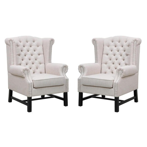 fairfield beige linen club chair free shipping today