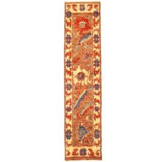 Herat Oriental Afghan Hand-knotted Shag Gabbeh Wool Runner (3'3 x 14'1)