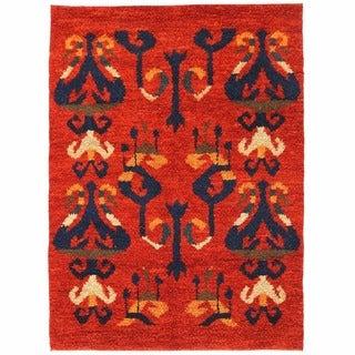 Herat Oriental Afghan Hand-knotted Shag Gabbeh Wool Rug (5'1 x 7')