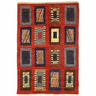 Herat Oriental Afghan Hand-knotted Shag Gabbeh Wool Rug (5'2 x 7'9)