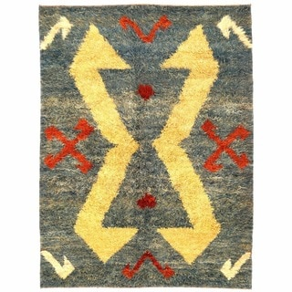 Herat Oriental Afghan Hand-knotted Gabbeh Wool Rug (6'4 x 8'5)