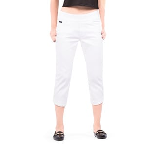 Bluberry Women's White Pedal Pusher Pants