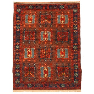 Herat Oriental Afghan Hand-knotted Gabbeh Wool Rug (6'8 x 8'10)