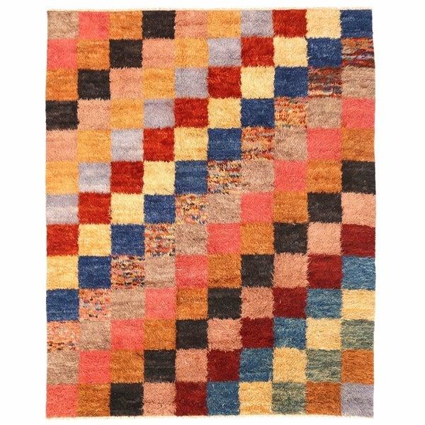 Herat Oriental Afghan Hand-knotted Shag Gabbeh Wool Rug (8'2 x 10')