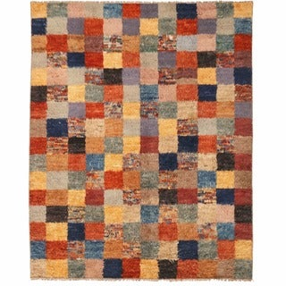 Herat Oriental Afghan Hand-knotted Gabbeh Wool Rug (7'10 x 10')