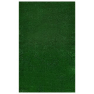 Berrnour Home Grassland Collection Indoor/Outdoor Green Artificial Grass Turf Rug - 3'11 x 6'6