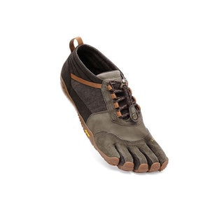 Vibram Men's Fivefingers Trek Ascent LR Caramel/Brown Kangaroo Leather/Hemp Sneakers