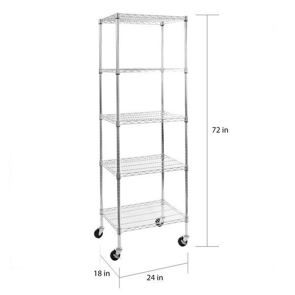 Wall Mount AmGood 12 Width x 24 Length Heavy Duty NSF Certified Stainless Steel Wall Shelf Square Edge Commercial Grade Metal Shelving