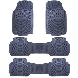 Zone Tech Grey Rubber 4-piece Universal Fit All-weather Heavy-duty Vehicle Floor Mats