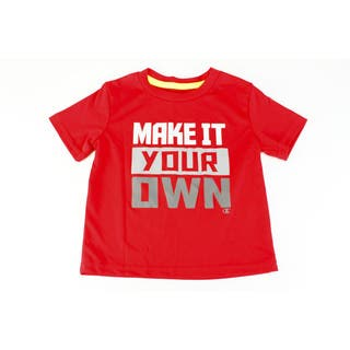 Champion Boys' Red Polyester Size 2T US Baby Short-sleeve Top|https://ak1.ostkcdn.com/images/products/11911060/P18803250.jpg?impolicy=medium