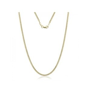 Gold Cuban Chain Necklaces Crafted from 14K Yellow Gold