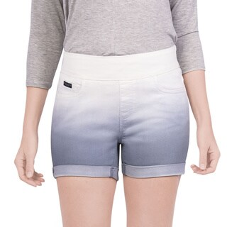 Bluberry Women's Lilac Grey Dip-Dyed Shorts