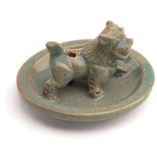 Handcrafted Ceramic Snow Lion Incense Holder (Nepal)