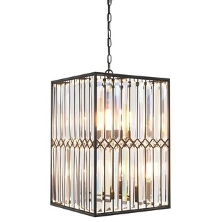 Kosas Home Manson Iron and Crystal 16-inch Chandelier