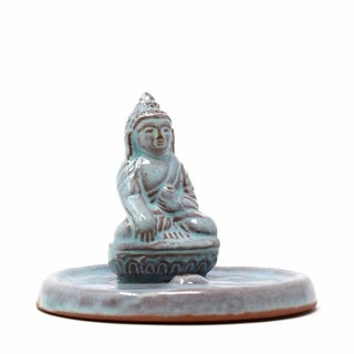 Handmade Ceramic Buddha Incense Holder (Nepal)