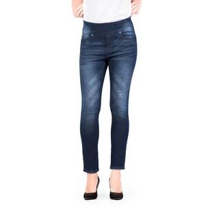Bluberry Women's Ginger Plus-size Slim-leg Ankle-length Denim