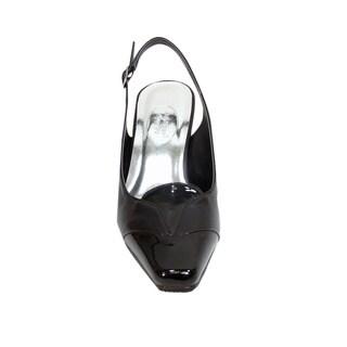 FIC PEERAGE Wendi Women's Extra Wide Mid-heel Slingback Shoes