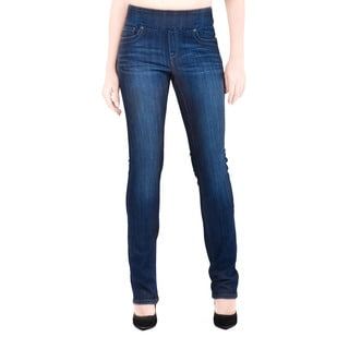Bluberry Women's Katie Dark Navy Rinse Wash Denim Slim Leg Jeans