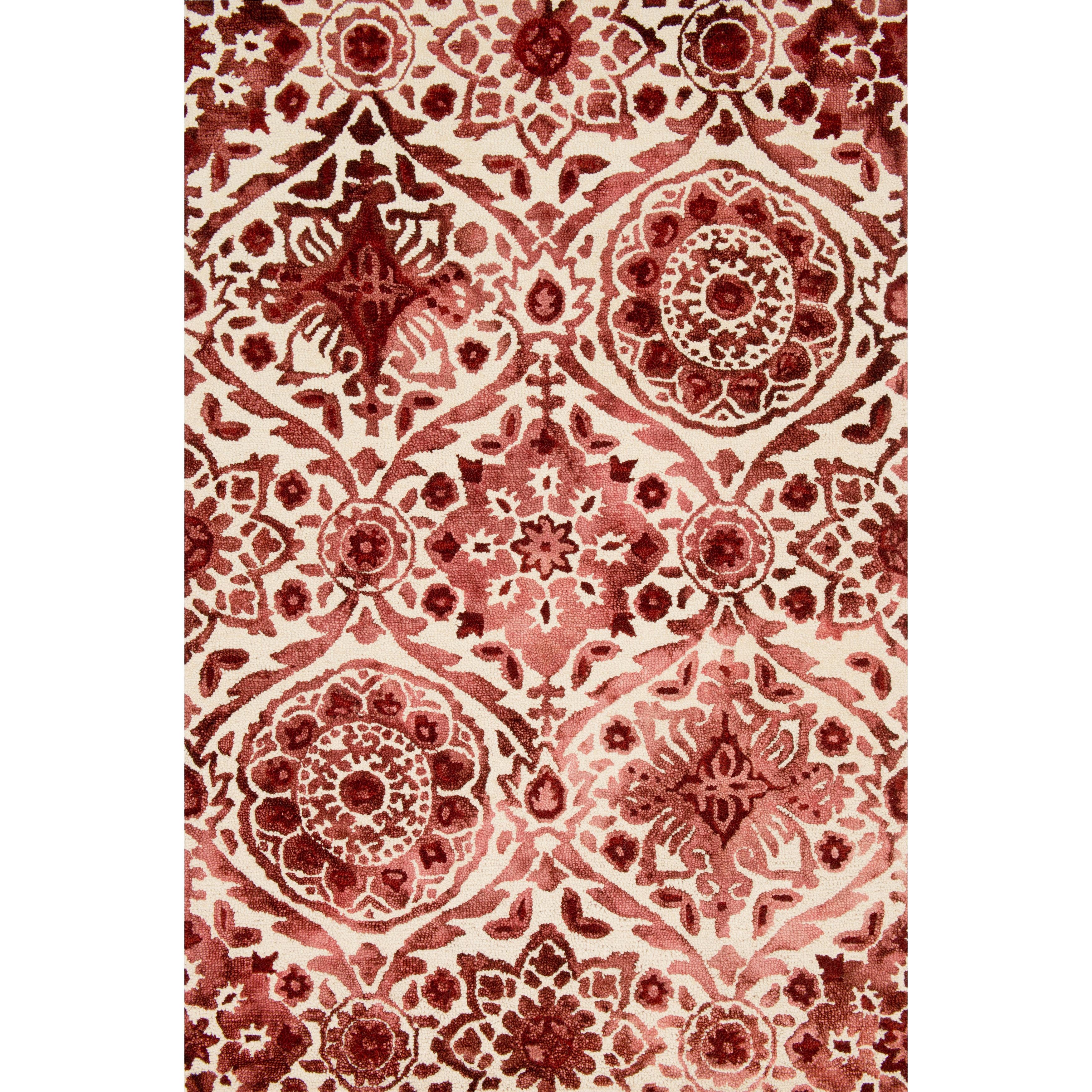 Alexander Home Hand-hooked Bella Wine Wool Rug (7'9 x 9'9...