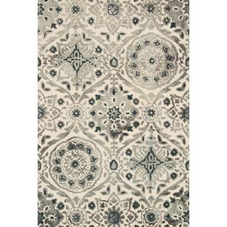 Hand-hooked Bella Slate Wool Rug (7'9 x 9'9)