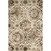 Hand-hooked Bella Taupe Wool Rug (7'9 x 9'9)