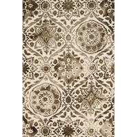 Hand-hooked Bella Taupe Wool Rug (7'9 x 9'9) - 7'9 x 9'9
